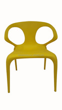 dining room furniture yellow plastic chairs