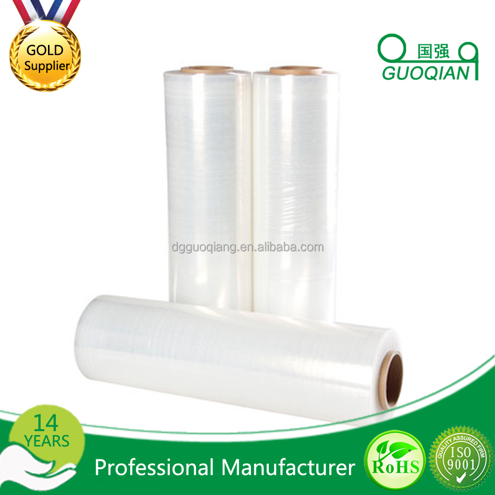 23 Micron Clear Plastic Self-adhesive PE Protective Stretch Wrap Packaging Film / Hot Melt Adhesive Film