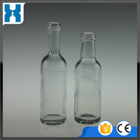 FACTORY DIRECT SALE WHITE SMALL GLASS LIQUOR BOTTLE 50ML