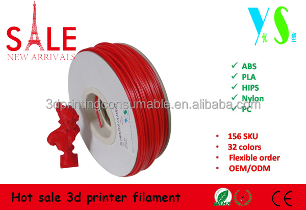 PLA/<strong>ABS</strong>/HIPS 3d printer filament for makerbot replicator 2