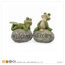 Resin Frog Garden Decoration Yard Signs About Frog Sat Down On A Stone