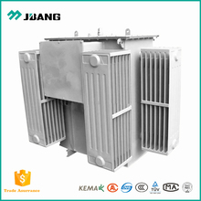Ground mounted outdoor DZN 3.3kV/0.4kV 100kva oil type power transformer with cable box