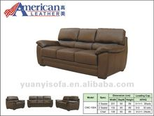 CN-1004 Modern brown leather living room sofas 3 2 1 seater, 3 piece lounge suite