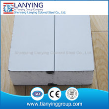 prefab houses sandwich wall panel of z-lock conection
