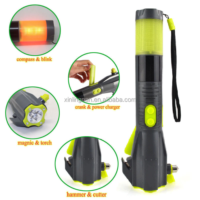 Multi-functional Car Safety Hammer&Seat Belt Cutting Knife&LED Flashlight and more