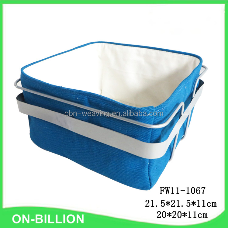 Wholesale stainless steel frame fabric bread basket pattern