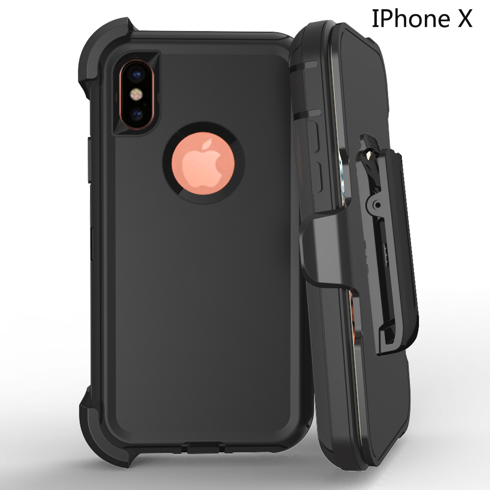 Multi-layer Defense Rugged PC TPU Phone Case for iPhone X Case Defender for iPhone 10