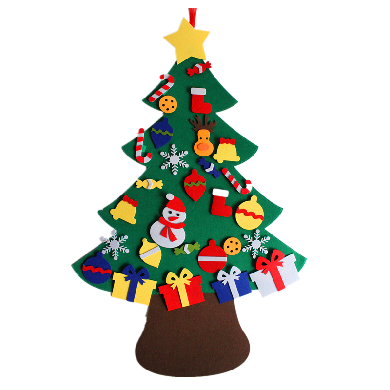 <strong>Manufacturers</strong> of Christmas supplies wholesale custom indoor hanging felt Christmas tree decoration DIY craft gifts