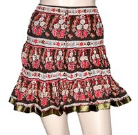India Valentine Gift fashion Handmade Gypsy Hippie Floral Print Mini Short Skirt
