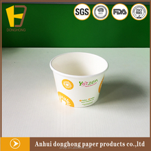 disposable ice cream paper bowl withh lid