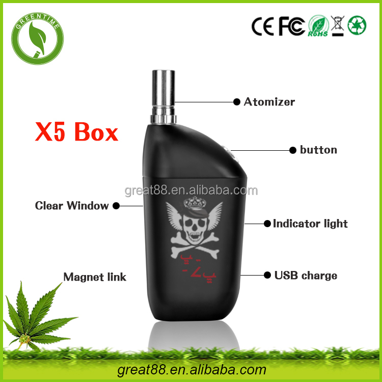 Greentime new designed box mod ceramic vape x5 vaporizer