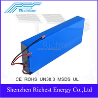 customized 12v 15ah lifepo4 rechargeable solar panel battery