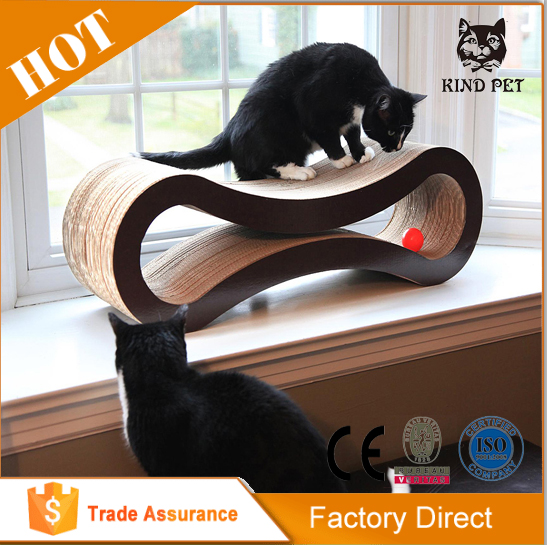 cardboard material cat scratching board for indoor use