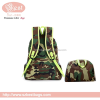 Light weight camouflage color fold up backpack