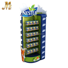 MX-SM049 Eye catching tea display rack / tea bag display stand for hypermarket promotion