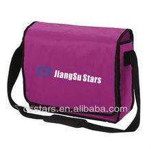 Pink crossbody shoulder courier bag with 420D