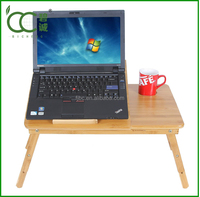 Adjustable Multifunctional Bamboo Portable bedroom Laptop Desk for lazy person