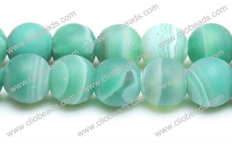 Green Striped Agate Rough Rounds