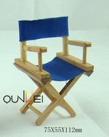 Dollhouse directors wooden chair blue