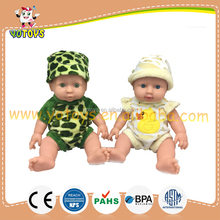 Hot sell cute soft plastic vinyl baby toy dolls for kids