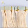 YBY Super Tape Popular Double Drawn Top Quality wholesale european virgin skin weft hair extension