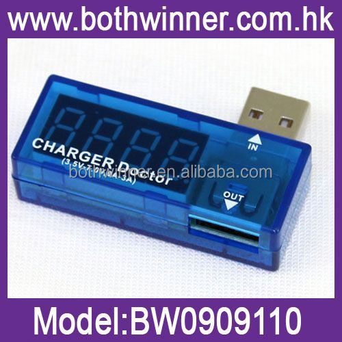 DA268 mini digital portable lcd led digital power bank usb voltage tester