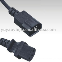 IEC outlet IEC-320 C13 to IEC-320 C14 ,power cord , C13 to C14 receptacle
