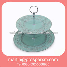 Tableware set wholesale ceramic 2-layer cake stand
