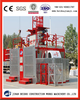 rack and pinion type construction builder hoist