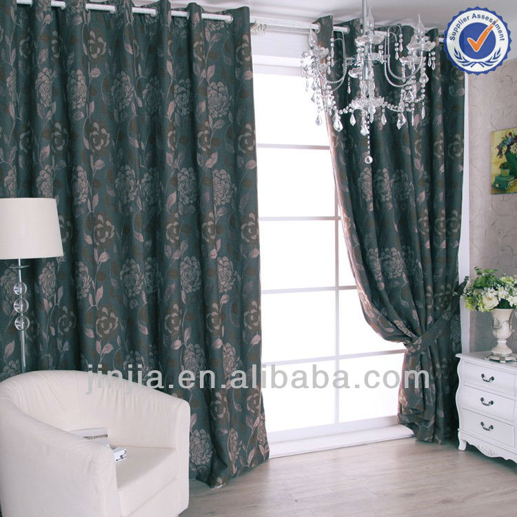 home decorative printed blackout curtain yarn textile