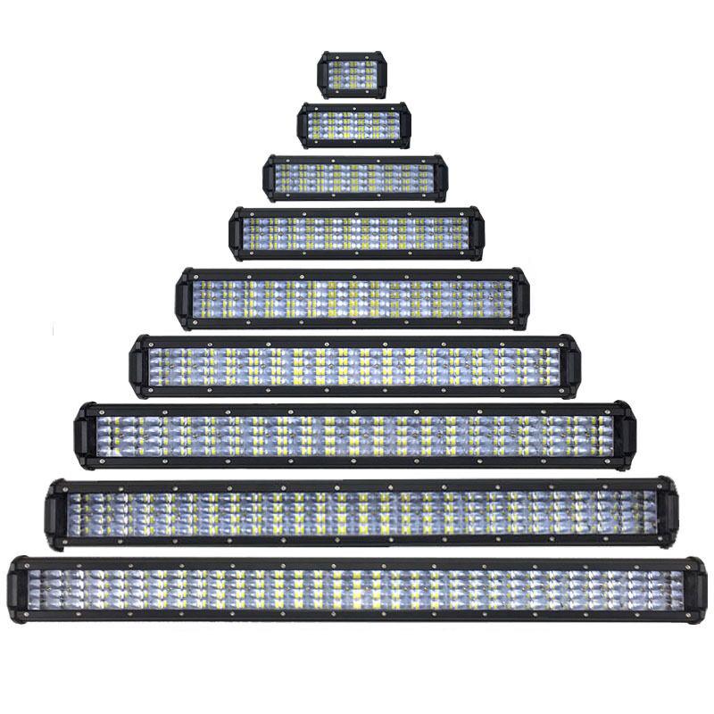 ed barre lumineuse spot/faisceau d'inondation de lumières led pour 4x4 offroad 36 w 72 w 108 w 144 w 180 w 216 w 324 w 396 w