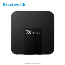 Greatworth-Andy Amlogic S905X set top box TX3 Mini smart tv fully loaded 4K Full HD Streaming Media Player