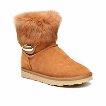 2017 women winter cowboy snow boots lady shoes