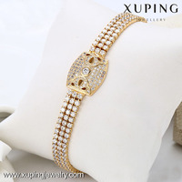 73294-Xuping 2016 Good Quality Watch Style Stone Bracelets With 3 Row