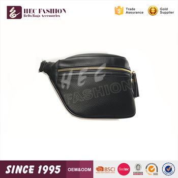 HEC Hot Sale 2016 Fashion Sport Type Black Color Waterproof Men Waist Bag