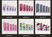 wholesale 70pcs/box Airbrush Pre Design Translucent French False Nail Art Acrylic Tips AT1200