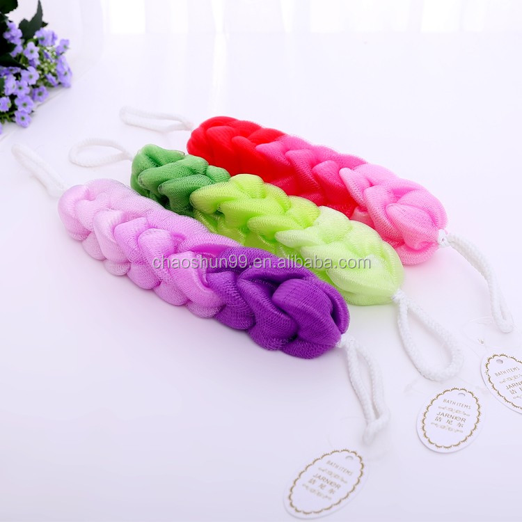 Colorful New Style Luffa Disposable Mesh Scrubber Bath Sponge Material