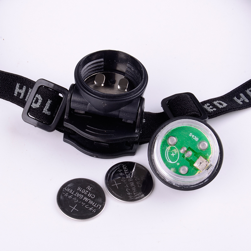 Manufacturer Hands Free Bright Mini Adjustable CR2016 Button Cell Headlamp For Children