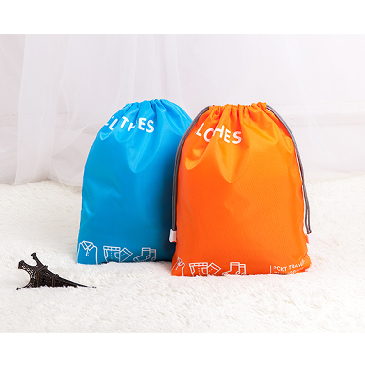 waterproof 190T nylon small polyester mesh gift drawstring bag from China manufactory