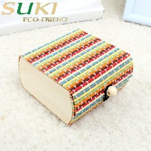 Painting custom wooden pencil box for gift store