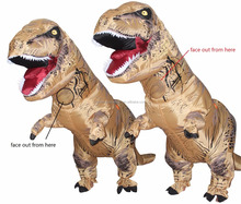 Giant t-rex dinosaur inflatable costume adult Jurassic park dinosaur inflatable suit
