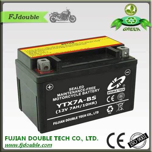 cheap price sealed lead acid motorcycle rechargeable battery 12v 7a