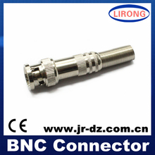 Copper Material RG59 CCTV Male BNC Connector with screw