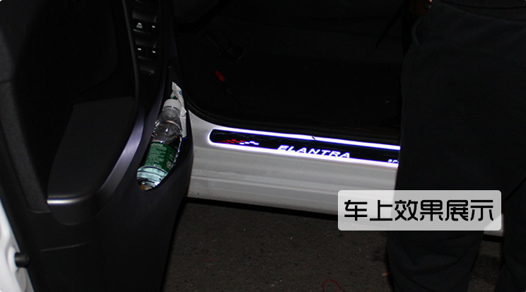 LED 304 Stainless Steel Door Sill Scuff Plate car welcome pedal