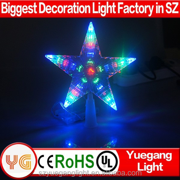 4.5V 2017 CE&Rohs Approved factory price outdoor christmas tree star lights high top