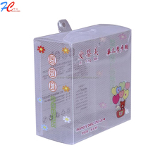 Wholesale Streaked Stripe Clear Plastic Shoes Packing Box With Half Transparent Windows Mini PVC Boxes