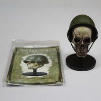 cartoon pvc figurine/high quality skull head toys/limited style military plastic toy