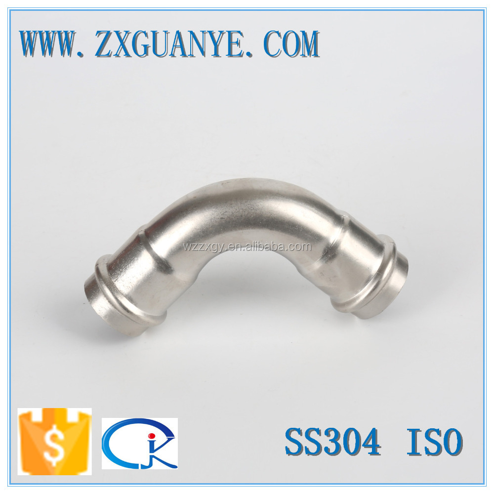 SUS 304 Pipe Press 90 Degree Elbow Fitting
