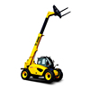 XCMG brand XC6-3007K 3ton telescopic handler with diesel engine