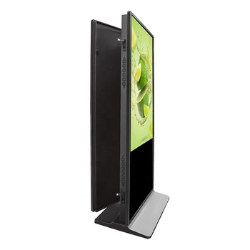 "49"" Dual screen commercial floor stand advertising equipment retail windows touch wifi touch indoor AD player digital signage"